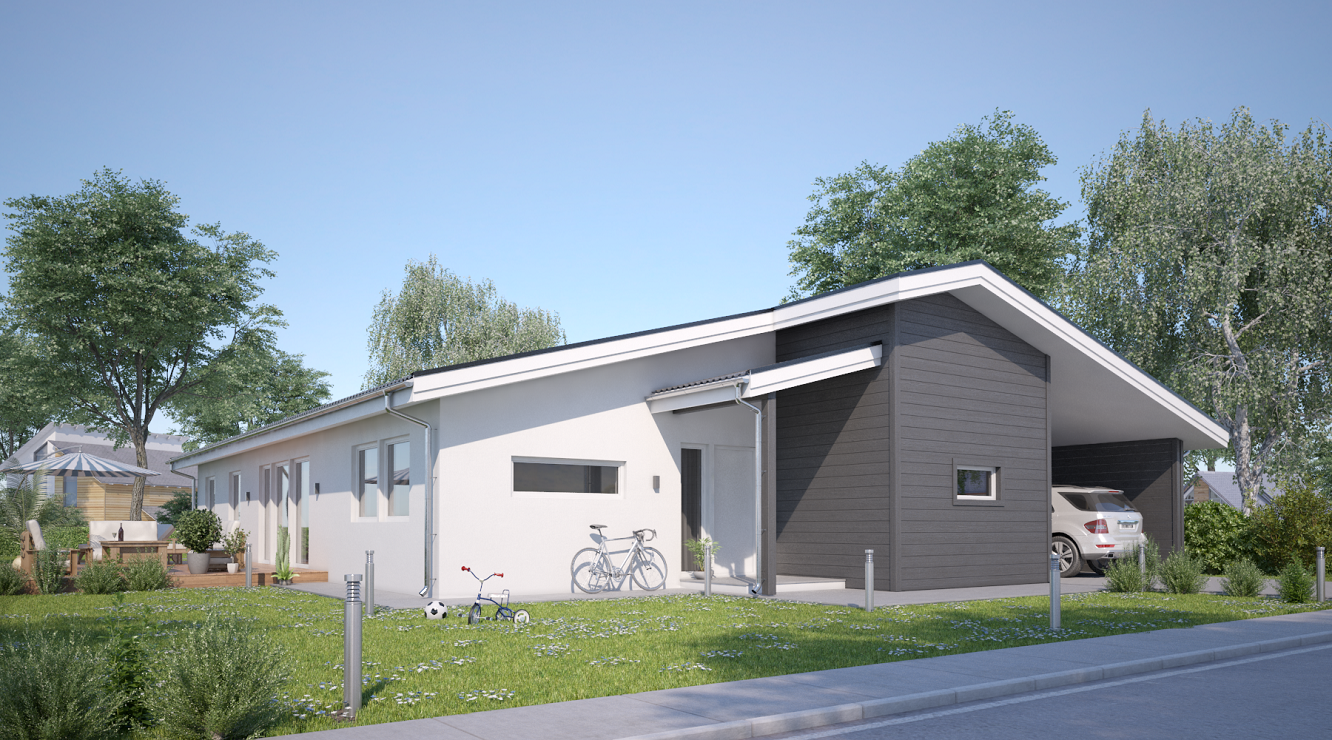 3D visualisering av villa