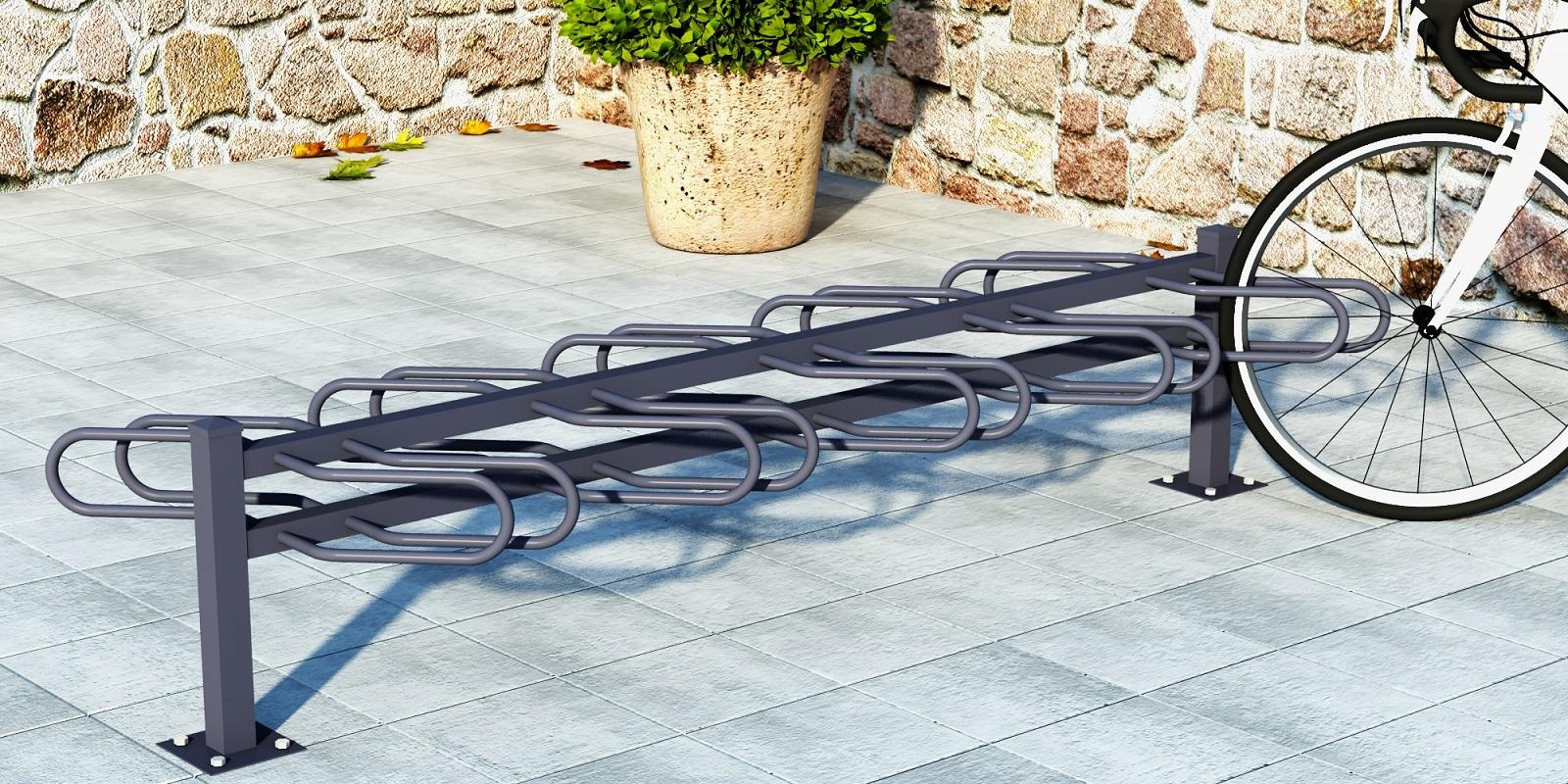 3D visualisering av cykelställ