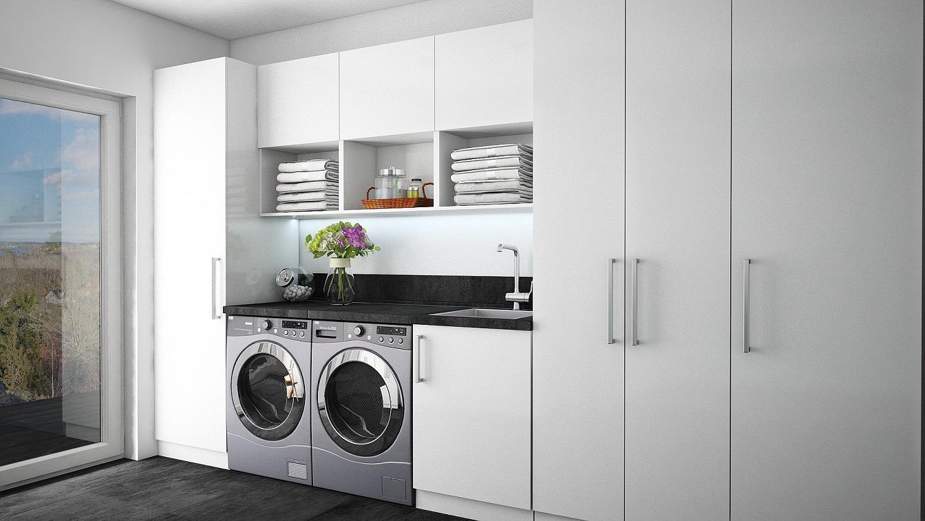 visualisering av tvättstuga