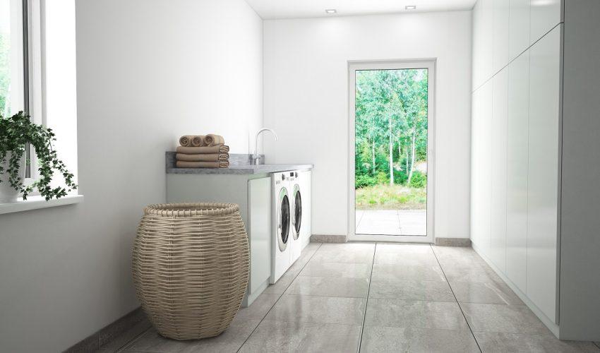 3D tvättstuga i villa