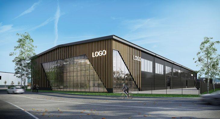 Industrihall i 3D